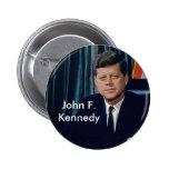 Retrato oficial de JFK del public domain Pins