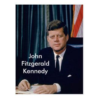 Retrato oficial de JFK del public domain Postales