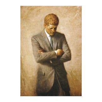 Retrato oficial de John F. Kennedy de Aaron Shikle Impresión En Lienzo