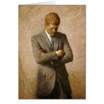 Retrato oficial de John F. Kennedy de Aaron Shikle Tarjeta De Felicitación