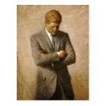 Retrato oficial de John F. Kennedy de Aaron Shikle Tarjeta Postal