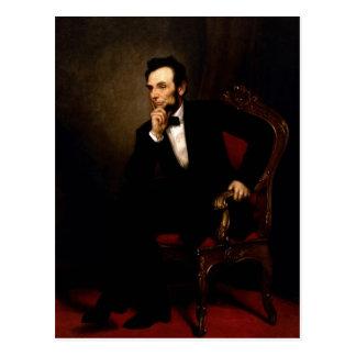 Retrato oficial de la Casa Blanca de Abraham Linco Tarjetas Postales