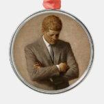 Retrato oficial de la Casa Blanca de John F. Adorno De Navidad