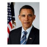 Retrato oficial de presidente Barack Obama Postal