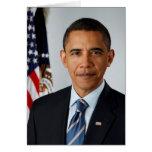 Retrato oficial de presidente Barack Obama Felicitación