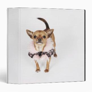 "Retrato peculiar de una chihuahua de la taza de té carpeta 1 1/2"""