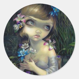 Retrato pegatina de Ofelia