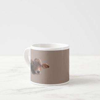 Retrato pelirrojo de la vaca de Brown Taza De Espresso