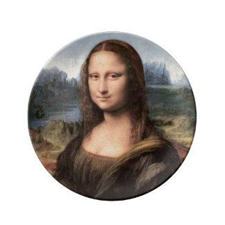 Retrato/pintura de Mona Lisa Platos De Cerámica