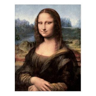 Retrato/pintura de Mona Lisa Postal