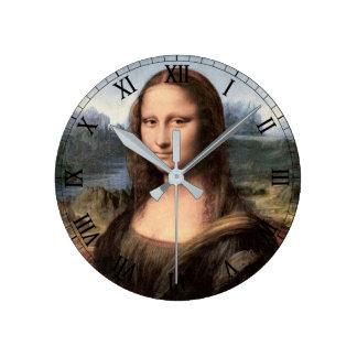 Retrato/pintura de Mona Lisa Reloj De Pared