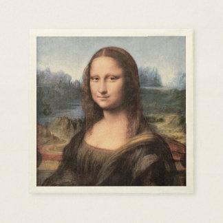 Retrato/pintura de Mona Lisa Servilletas De Papel