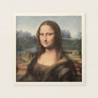 Retrato/pintura de Mona Lisa Servilleta Desechable