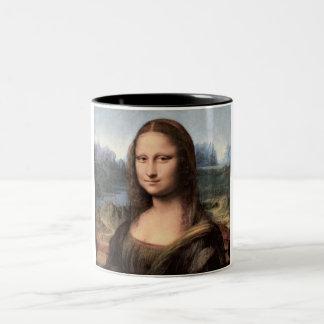 Retrato/pintura de Mona Lisa Taza Dos Tonos