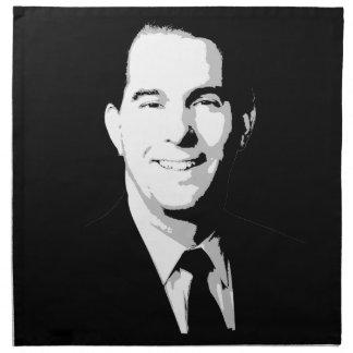 Retrato político del caminante de Scott Servilletas Imprimidas