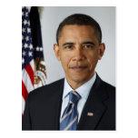 Retrato presidencial de Barack Obama Postal