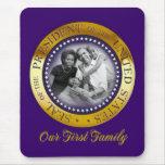 Retrato presidencial del sello de Obama Tapete De Raton