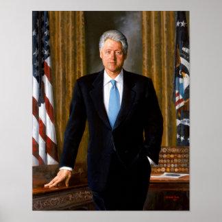 Retrato presidencial oficial Bill Clinton Póster
