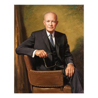 Retrato presidencial oficial de Dwight D Eisenhowe Fotografía