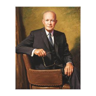 Retrato presidencial oficial de Dwight D Eisenhowe Impresión En Lona Estirada