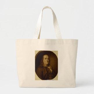 Retrato principal de Benjamin Franklin y de los ho Bolsas De Mano