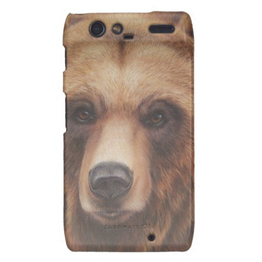 Retrato principal del oso motorola droid RAZR carcasas