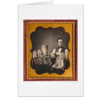 Retrato profesional de un hojalatero… (40027) tarjeta de felicitación