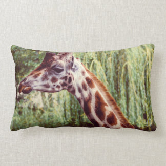 Retrato púrpura de la jirafa, fotografía animal almohada