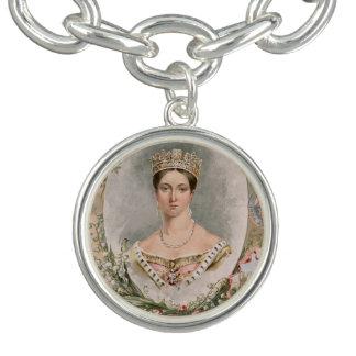 Retrato real de la reina Victoria Pulsera Con Dije
