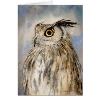 Retrato realista del búho de Eagle en arte de la a