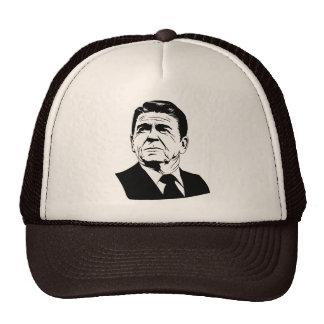 Retrato retro de Ronald Reagan los an o 80 Gorros Bordados