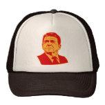 Retrato retro de Ronald Reagan los an o 80 Gorros