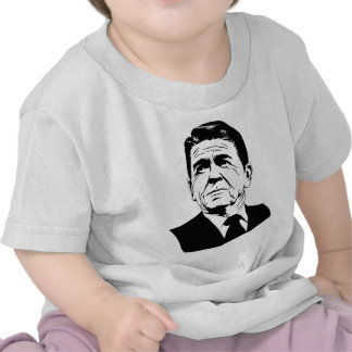 Retrato retro de Ronald Reagan los an o 80 Camiseta