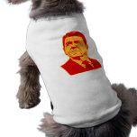 Retrato retro de Ronald Reagan los an o 80 Ropa De Mascota