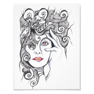 Retrato rizado del chica del peinado fotografía