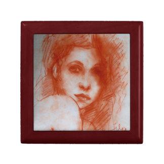 Retrato ROMÁNTICO de la BELLEZA/de la mujer en la Caja De Joyas