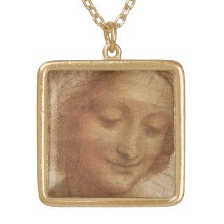Retrato Santa Ana de Leonardo da Vinci Colgante Cuadrado