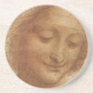 Retrato Santa Ana de Leonardo da Vinci Posavasos Personalizados