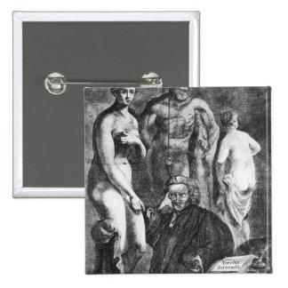 Retrato satírico de Laurence Sterne, c.1761 Pin Cuadrado
