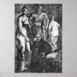 Retrato satírico de Laurence Sterne, c.1761 Poster