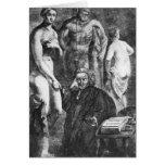 Retrato satírico de Laurence Sterne, c.1761 Tarjeta
