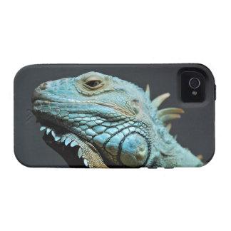 Retrato serio de la iguana Case-Mate iPhone 4 carcasas