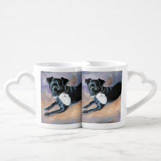 Retrato Snoopy del perro de la mezcla de Terrier d Taza Para Parejas
