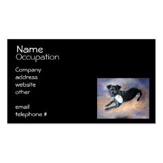 Retrato Snoopy del perro de la mezcla de Terrier d Tarjetas Personales
