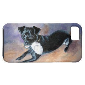Retrato Snoopy del perro de la mezcla de Terrier Funda Para iPhone 5 Tough