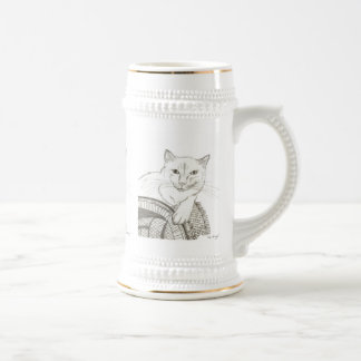 Retrato Stein de Ragdoll del gato Tazas De Café