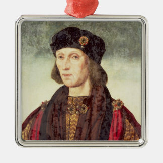 Retrato T31778 de Henry VII (1457-1509) Adorno Navideño Cuadrado De Metal
