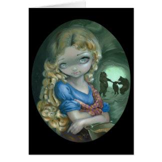 """""""Retrato tarjeta de felicitación de Goldilocks"""""""