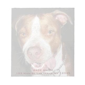 Retrato tonto de Pitbull Bloc De Notas