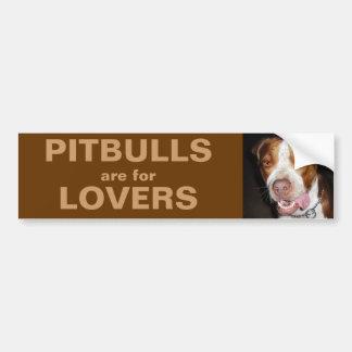 Retrato tonto de Pitbull Pegatina Para Auto